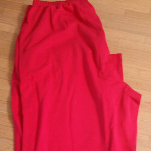 Lands' End Red Cotton Knit Pants Size Large NWT